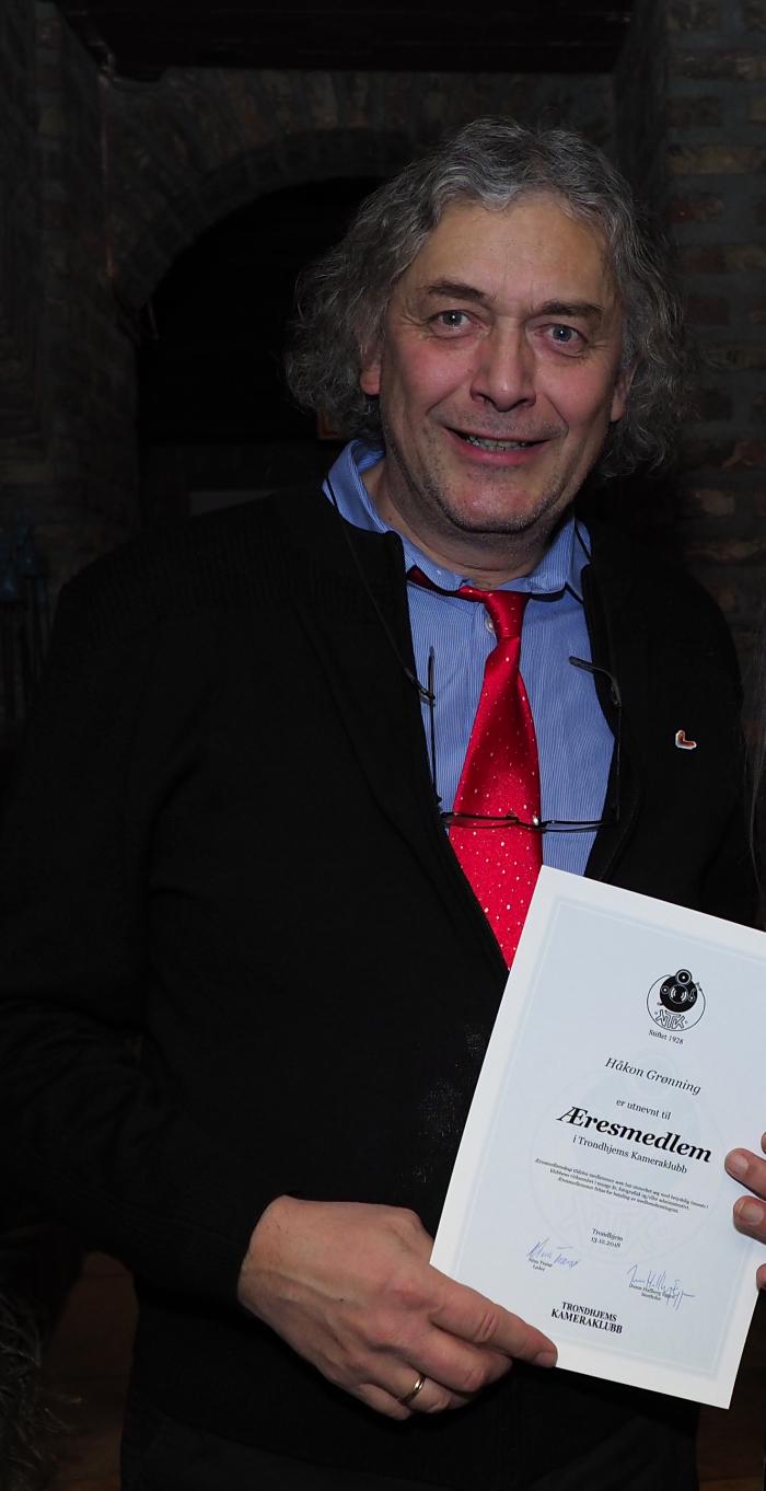 Håkon Grønning, æresmedlem Trondhjems Kameraklubb (foto: Ole P. Sannerud)