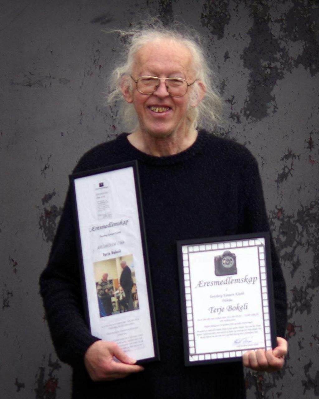 Terje Bokeli, æresmedlem Tønsberg Kamera Klubb (foto: Knut Erik Skréi)
