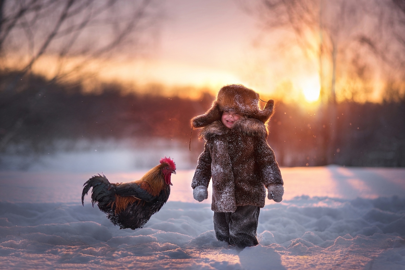 Childhood in the village by Elena Mironova, Russia Federation
