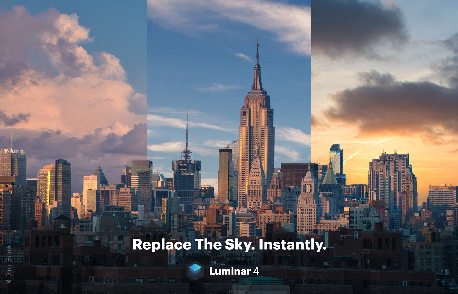 Luminar 4 AI sky replacement