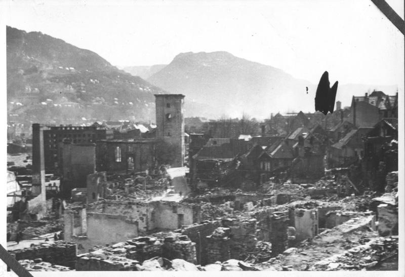 Eksplosjonsulykken i Bergen, ødeleggelser