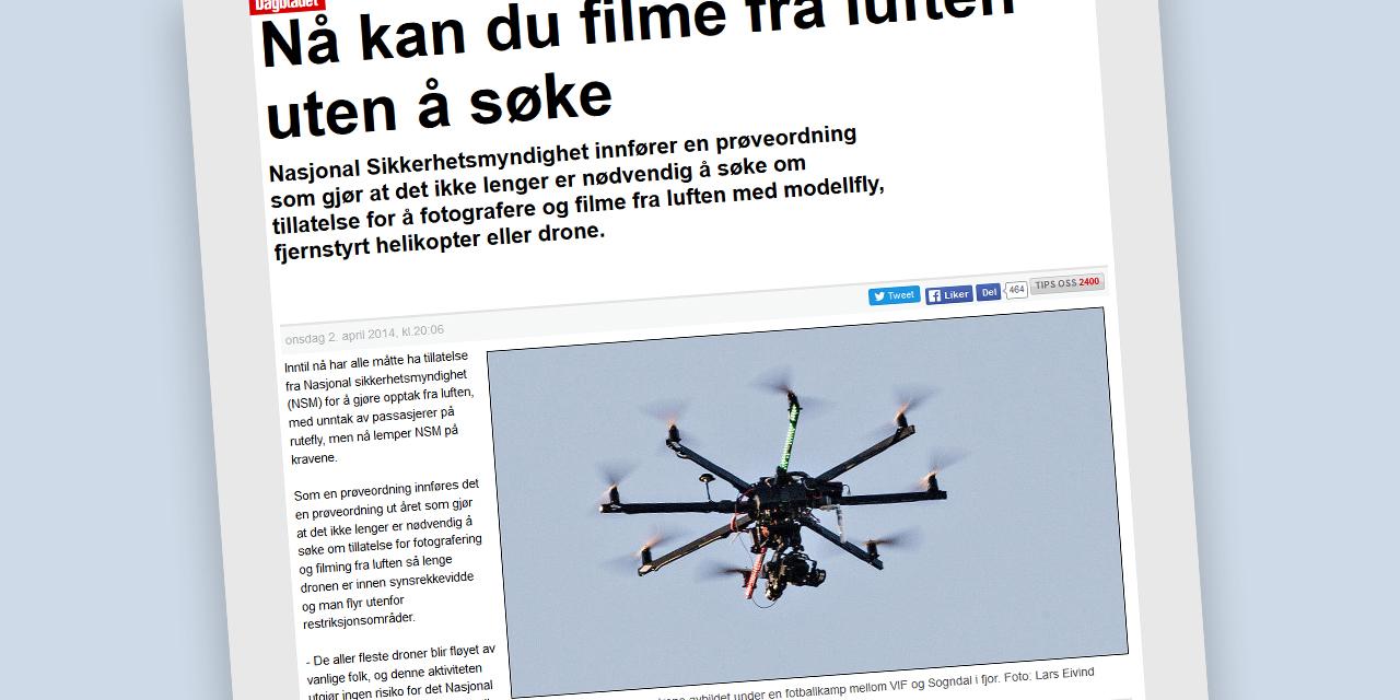 Likevel lov å fly kameradrone?