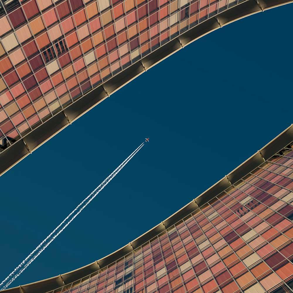 Jet Between Buildings--Leif Alveen