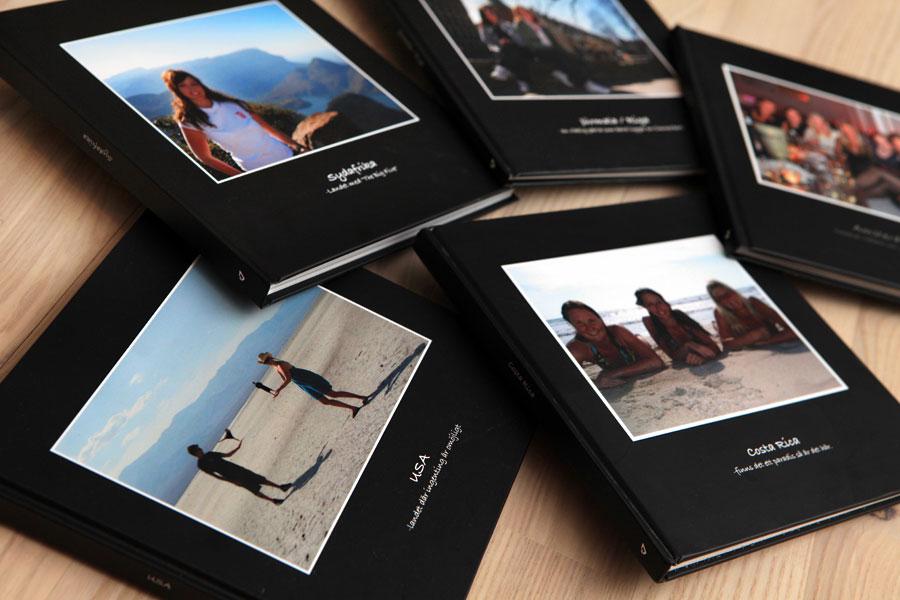 Fotobok med minner fra turen