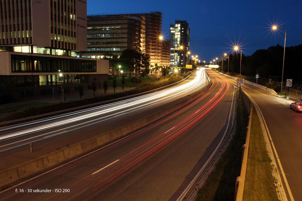 Fotografering i mørket, lang lukkertid