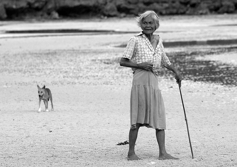 På tur med hunden--Rolf Sylta