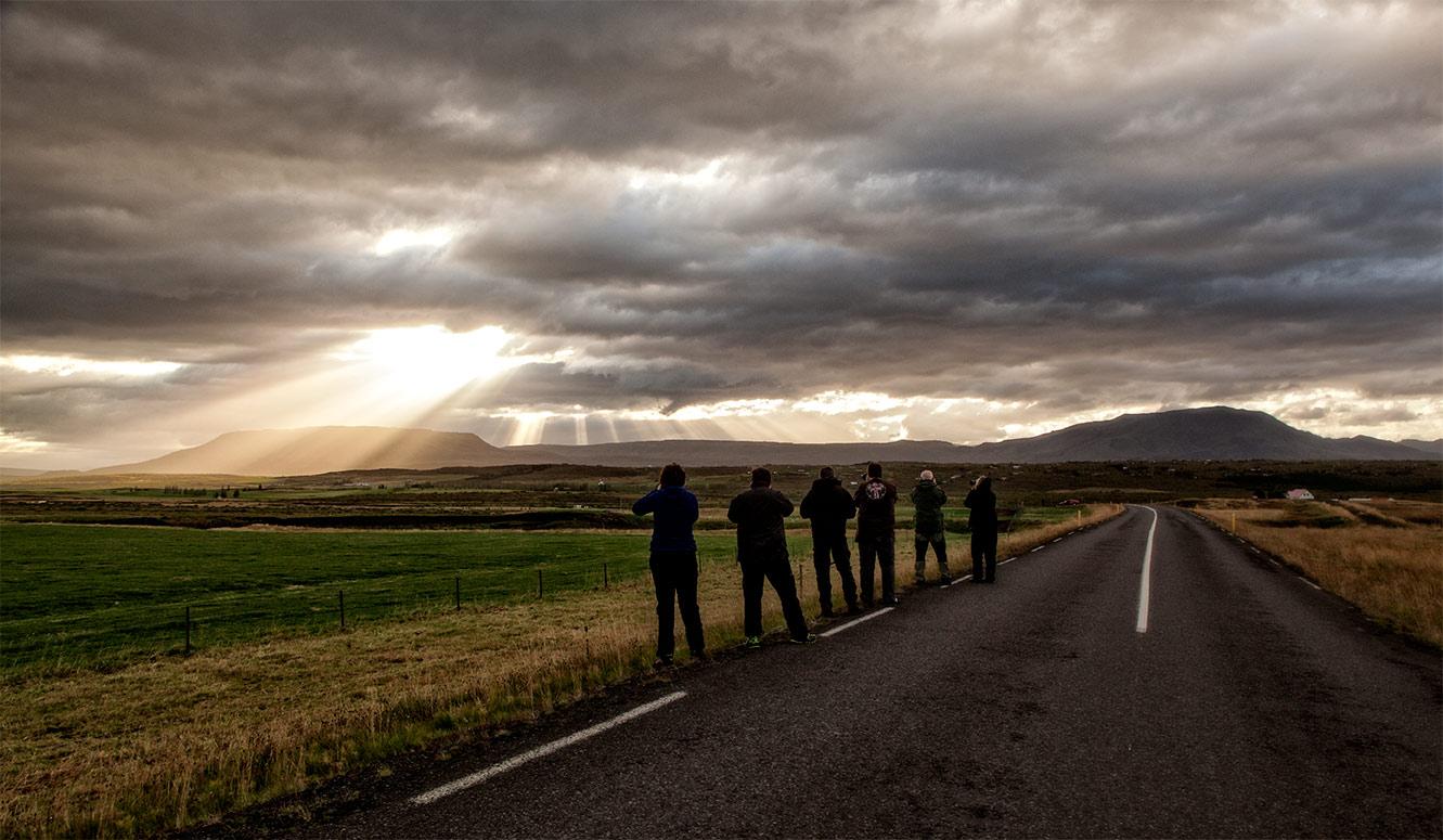 Bodø fotoklubb på Island
