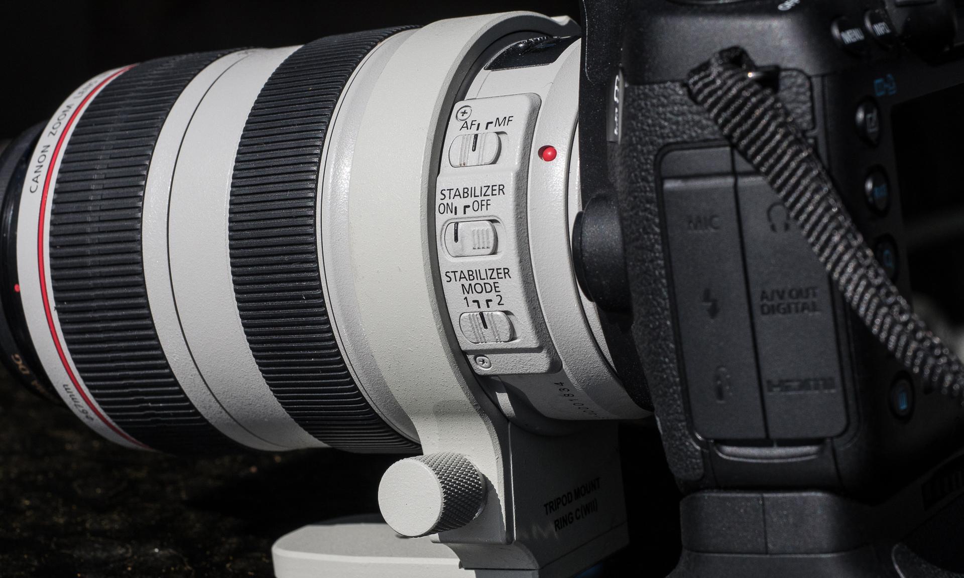 Bildestabilisator i objektiv og kamera
