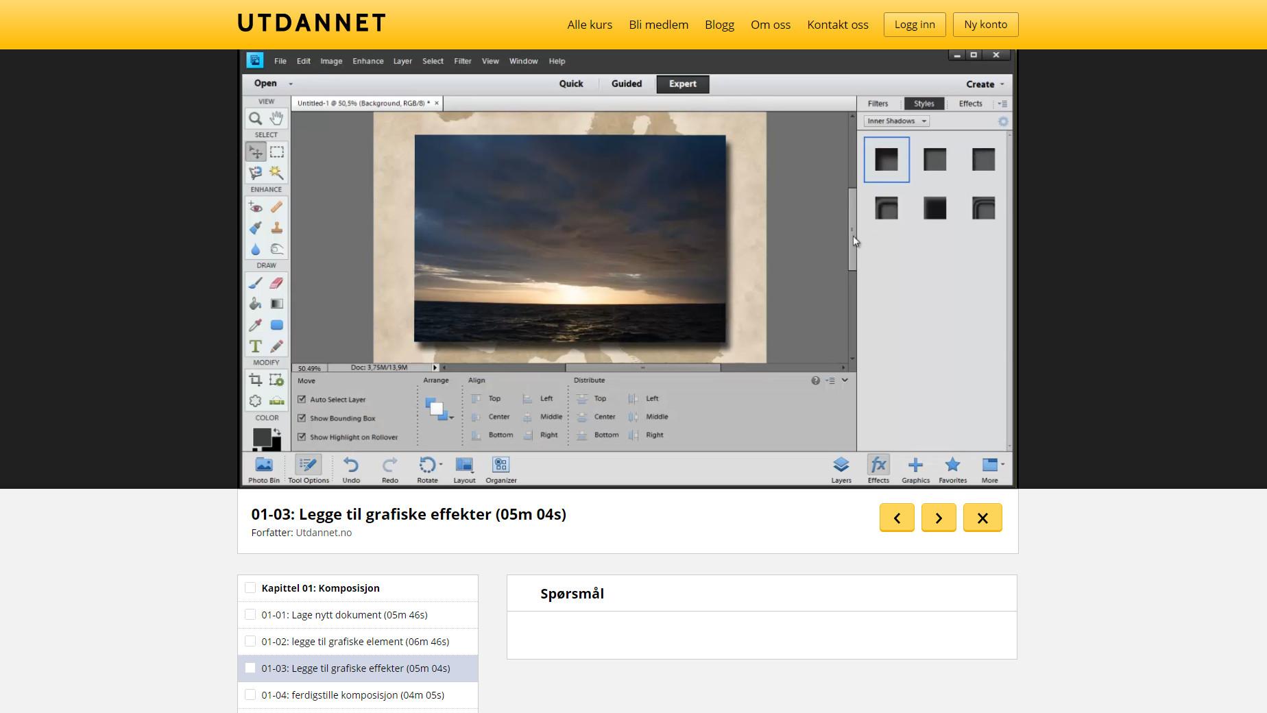 Bli «Utdannet» på norsk i Adobe Photoshop Elements