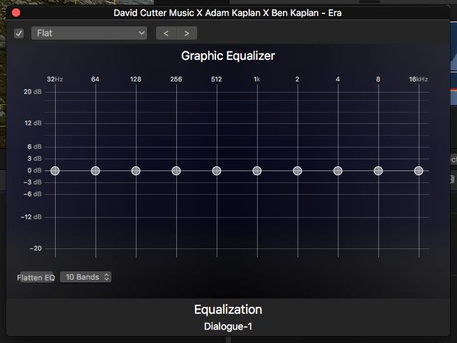 Kvalitetsikring av filmlyd: Grafisk equalizer (skjermbilde)