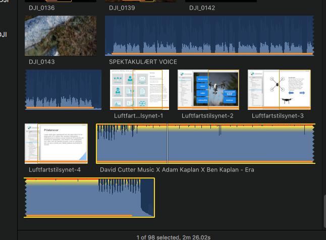 Kvalitetsikring av filmlyd: Kildefil lyd (skjermbilde)