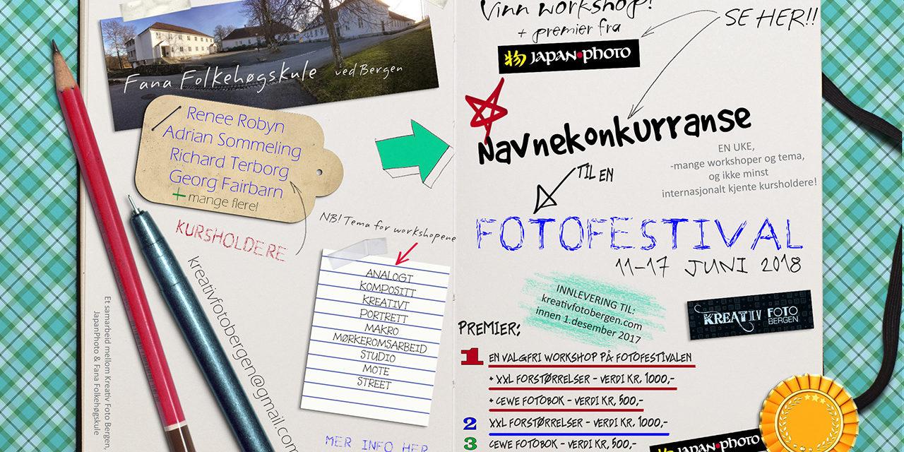 Kreativ Foto Bergen med navnekonkurranse før workshopuke