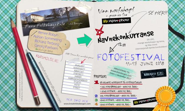 Vinneren av navnekonkurransen til Kreativ Foto Bergen er kåret