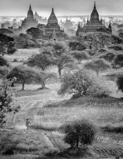 "Arne Bergo ""Bagan lady and pagodas M"""