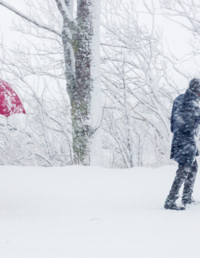 "Arne Bergo ""Man Woman Snowstorm"""