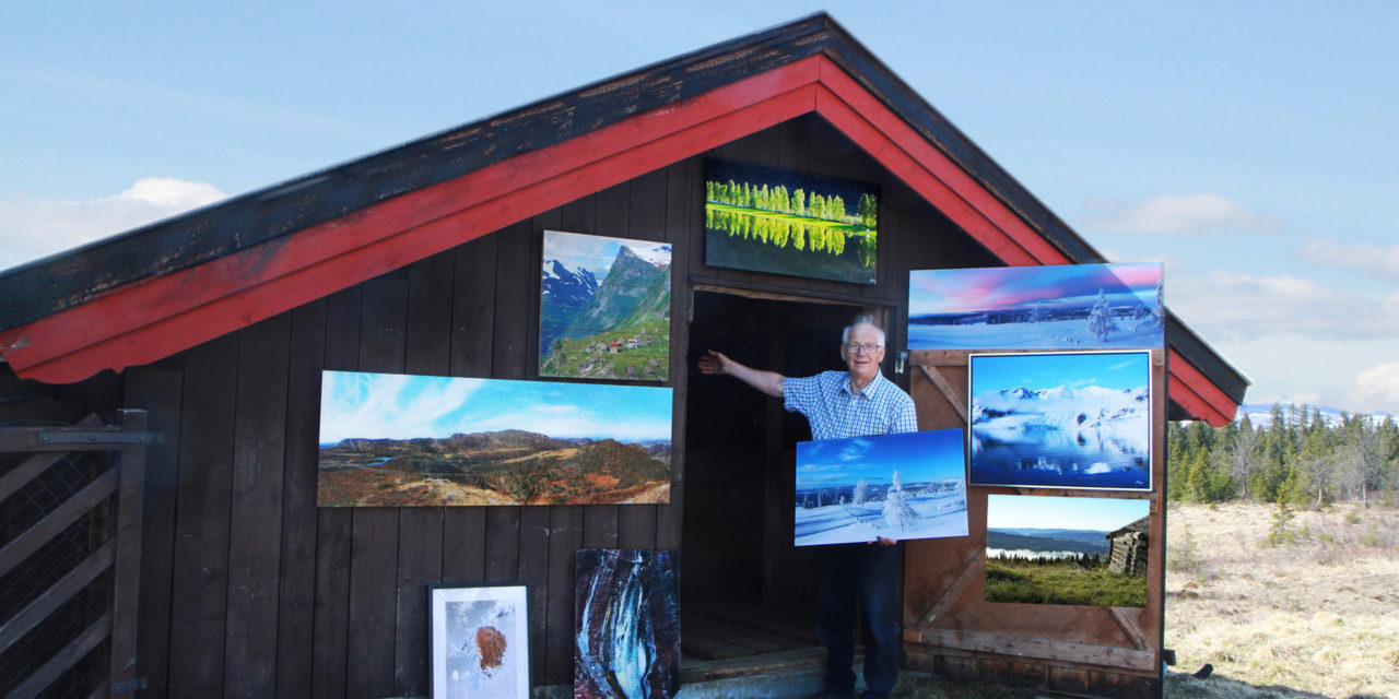 Jørgen Skaug fra Lillehammer Kameraklubb med flott naturfotoutstilling