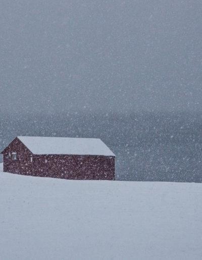 Anne Katharine Dahl: Boathouse in winter