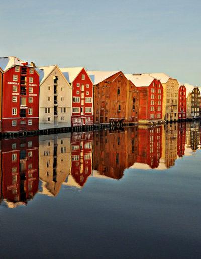 Anne Katharine Dahl: Trondheim Waterfront in Winter