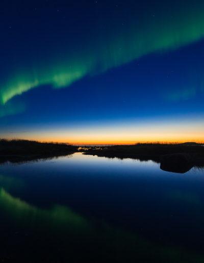Gaute Frøystein: Aurora at sunset