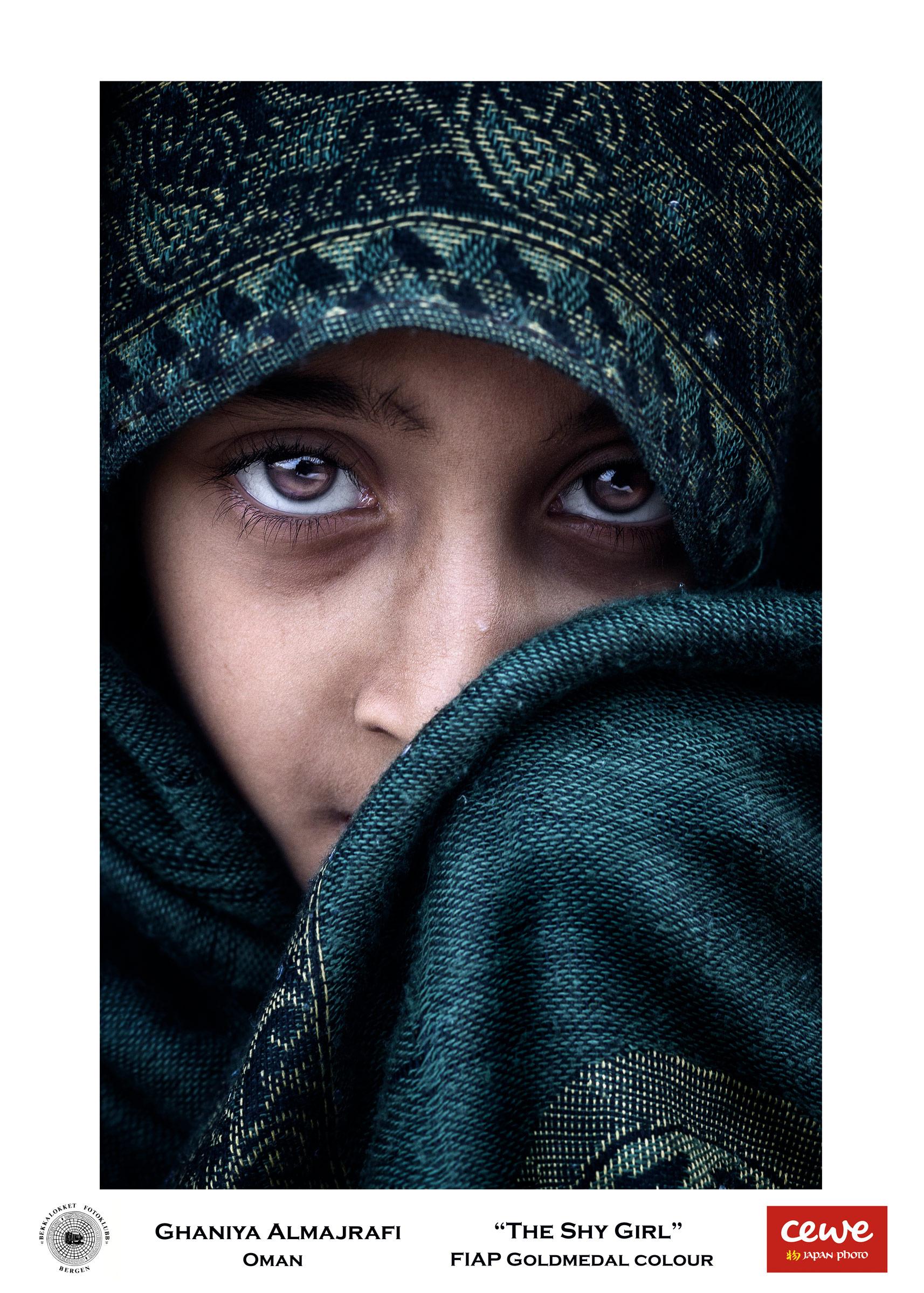 """FIAP Gold colour: Ghaniya-Almajrafi """"The Shy Girl"""""""