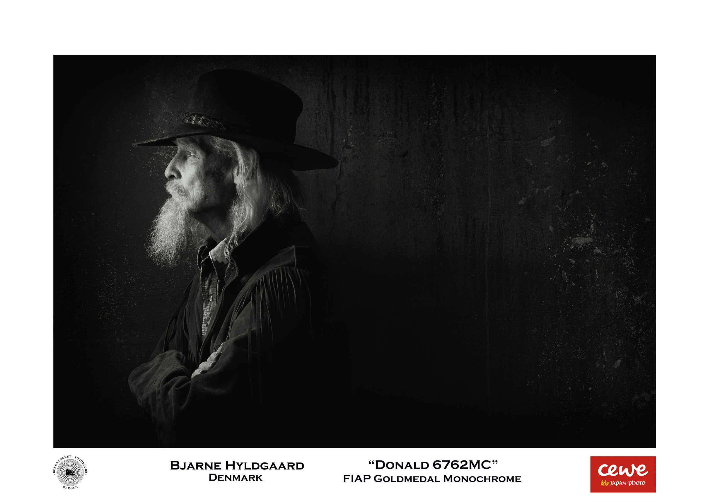 "FIAP Gold monochrome: Bjarne Hyldgaard ""Donald 6762MC"""