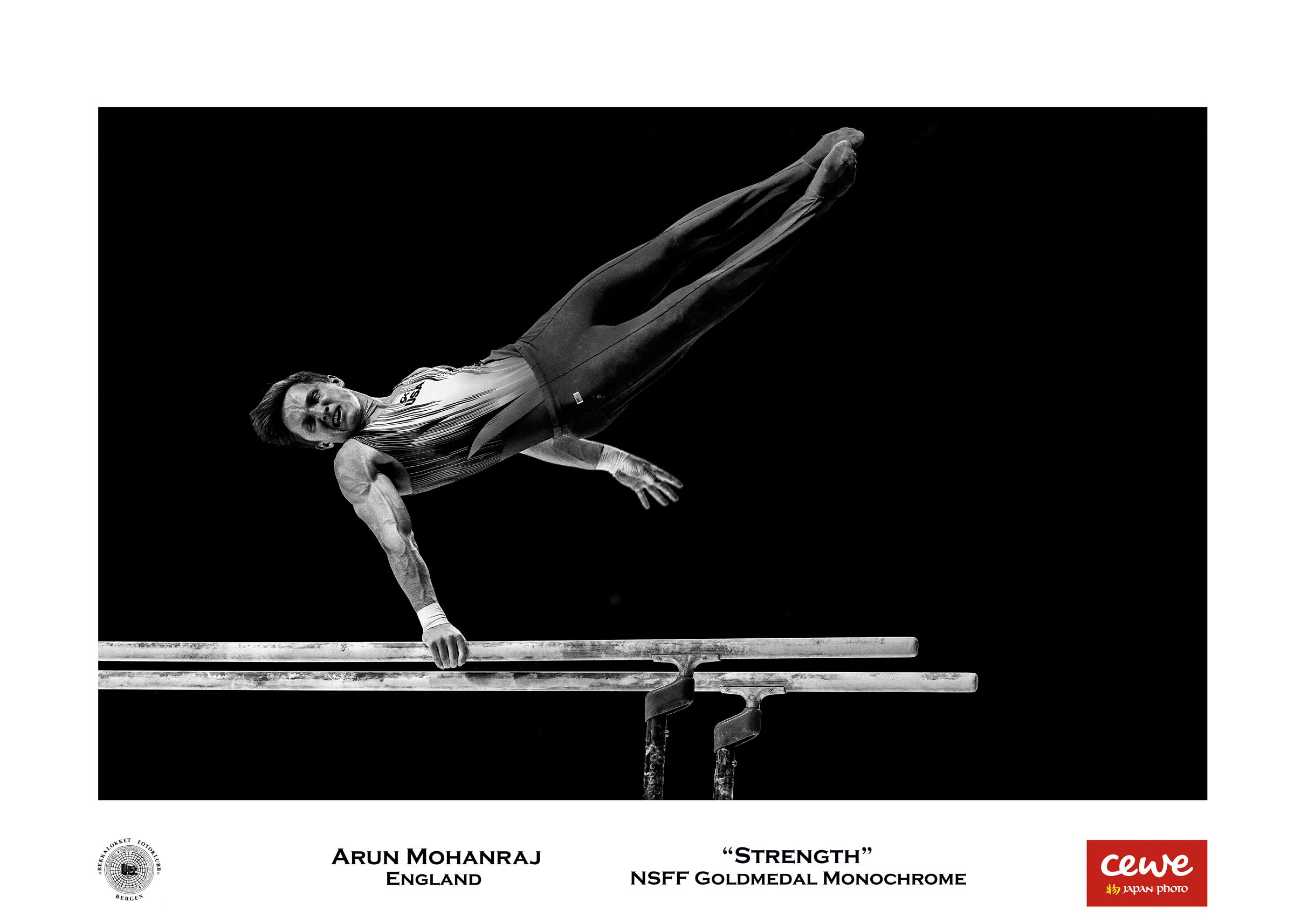 "NSFF Gold monochrome: Arun Mohanraj ""Strength"""