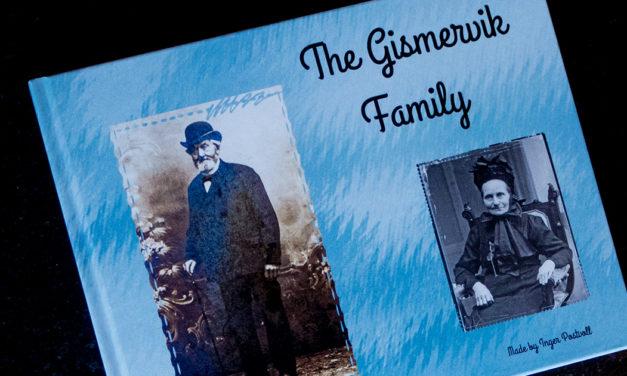 Fotostory om oldemor og familien