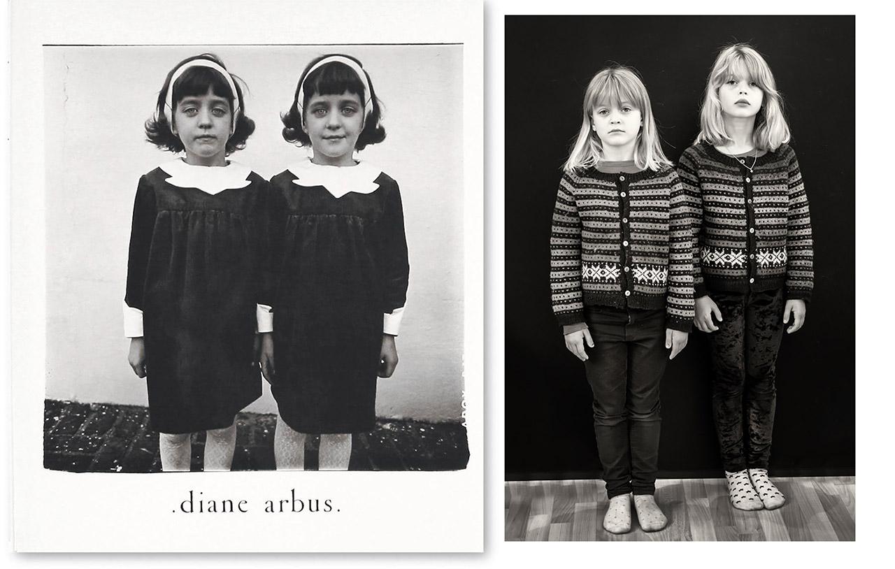 Tvillinger a la Diane Arbus (Synnøve G. Solberg)
