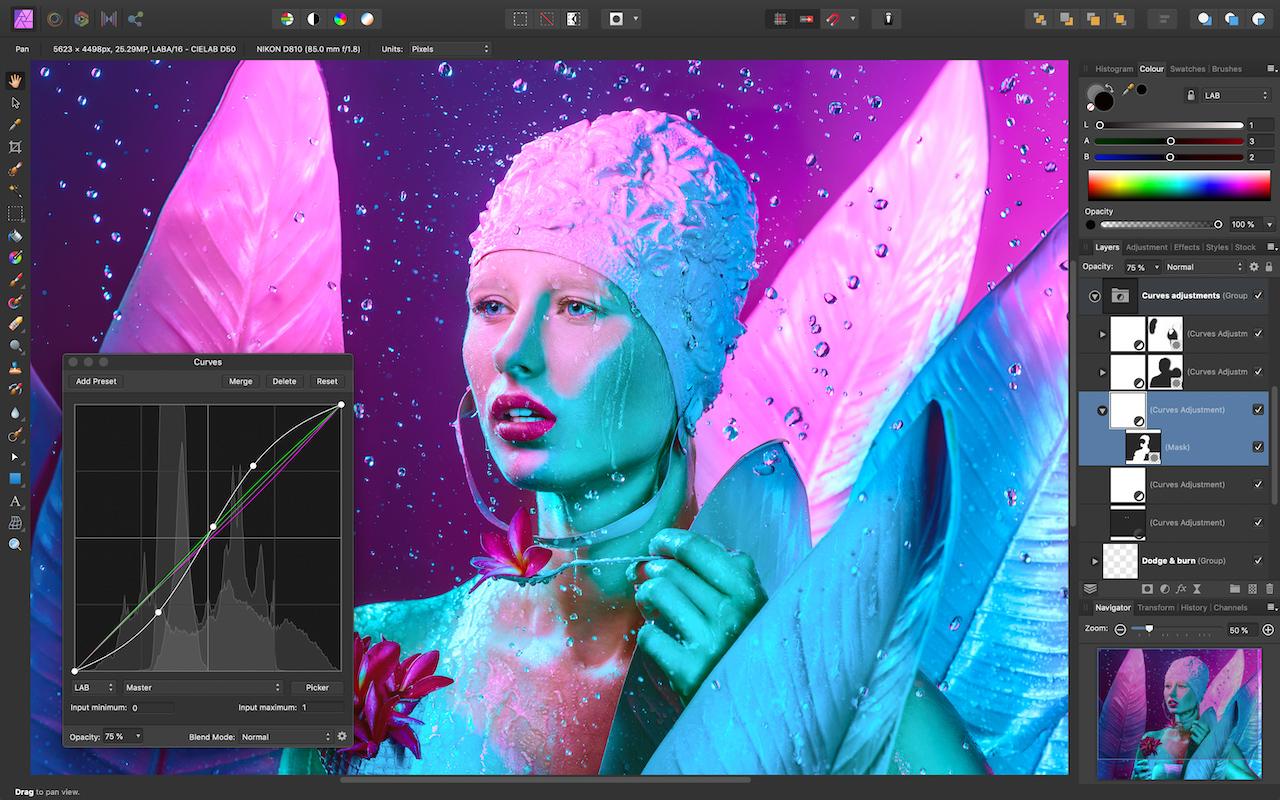 Affinity Photo 1.7 Curves